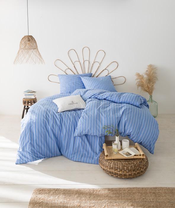 Bettwäsche Estella Mattes 2239 PREMIUM BUNTGEWEBE bleu