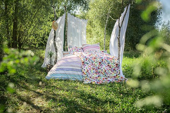 Bettwäsche Estella Daisy 4743 MAKO-SATIN multicolor 155x200 + 80x80 cm