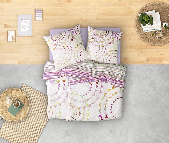 Bettwäsche Estella Gypsy 4758 MAKO-SATIN multicolor 40x80 cm