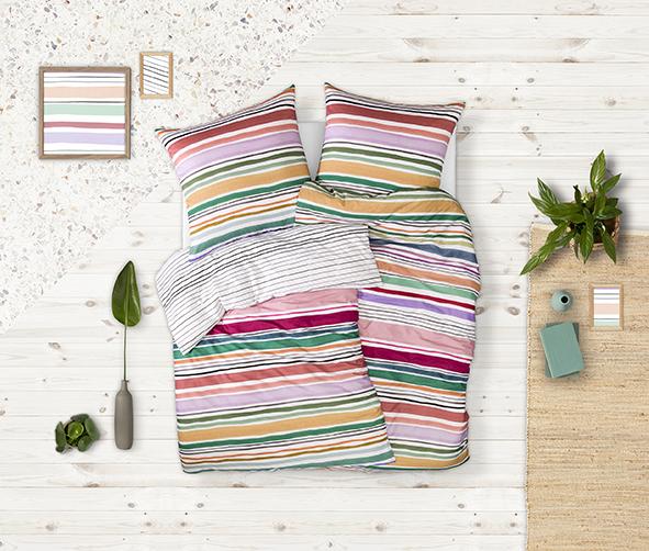 Bettwäsche Estella Polo 4759 MAKO-SATIN multicolor 155x200 + 80x80 cm