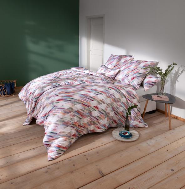 Bettwäsche Estella Florin 7490 MAKO-SATIN multicolor 155x200 + 80x80 + 40x80 cm