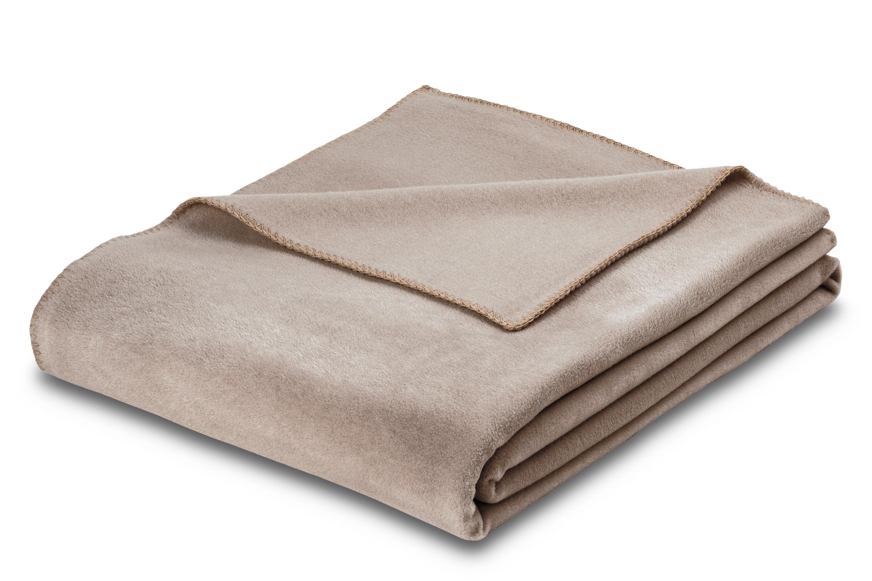 Premium-Fleecedecke Estella Trevi 8603 800 kiesel 160x200 cm