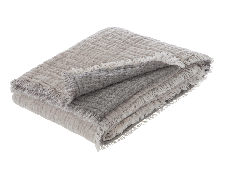 Premium-Plaid Mit Wolle Estella Levanto 8607 830 rauch 150x200 cm