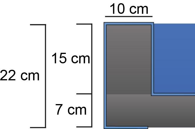 gerade - innen 15-17 cm